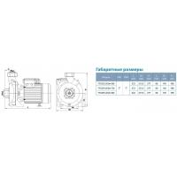 насос aquatica xsm-70 центробежный поверхностный 1.5квт 29м 440л/мин Aquatica LEO