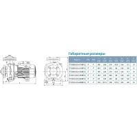 насос acm400bf4 центробежный 4,0квт 16м 1600л/мин 4 leo 3,0 Aquatica LEO