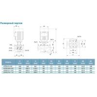 НАСОС ЦЕНТРОБЕЖНЫЙ ВЕРТИКАЛЬНЫЙ 380В 2.2КВТ HMAX 31.5М QMAX 533Л/МИН LEO 3.0 LPP32-26-2.2/2