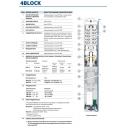 скважинный моноблочный насос 4-blockm2/20 Pedrollo