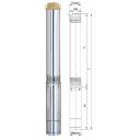 Насос Aquatica 4SDm4/18 центробежный погружной 1.5кВт Н 126м 100л/мин Ø96мм