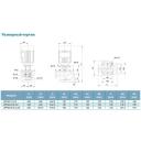 насос центробежный вертикальный 380в 2.2квт hmax 24.5м qmax 583л/мин leo 3.0 lpp40-20.5-2.2/2
